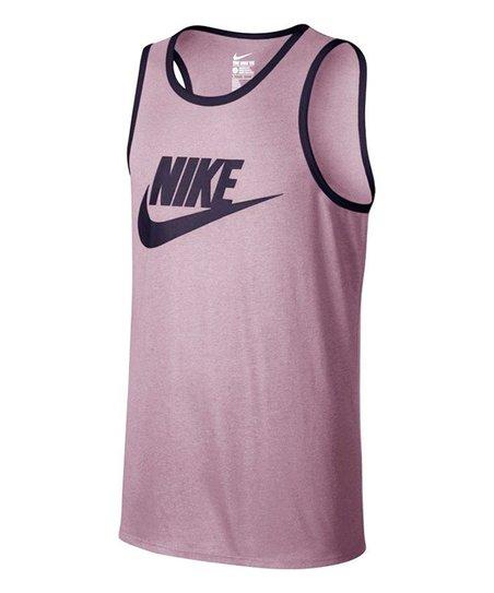 Nike Ace Logo Particle Rose Black Tank Top