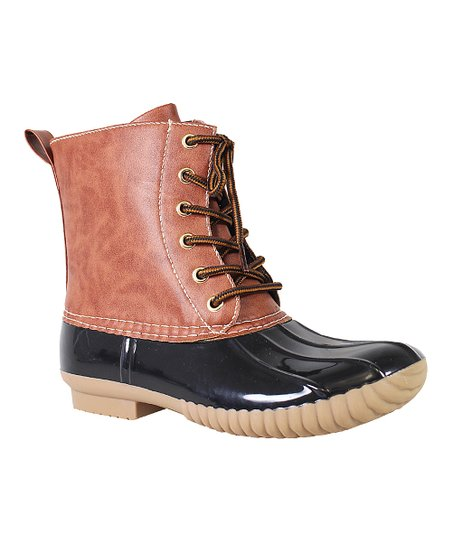 Black \u0026 Tan Dylan Duck Boot - Women