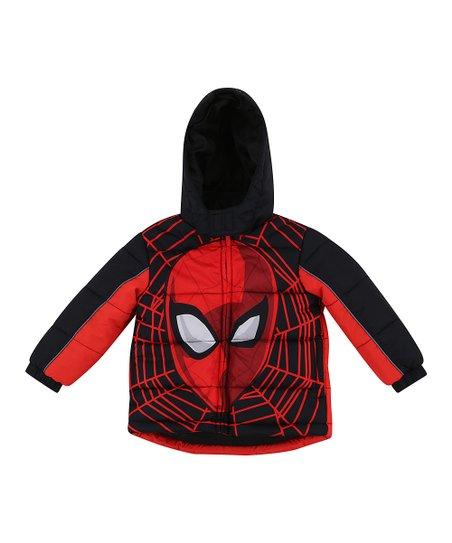 Spider-Man Puffer Jacket Red