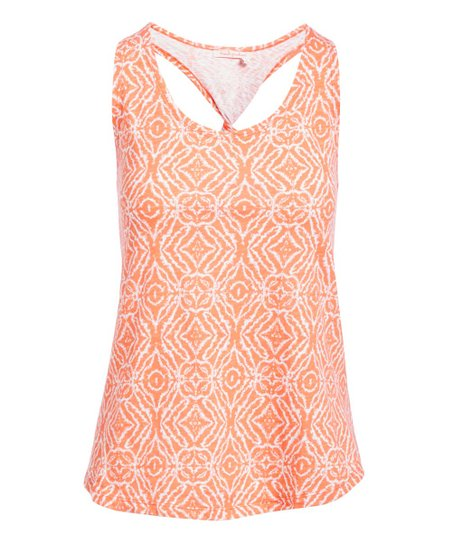 Yours Clothing Women/'s Plus Size Coral Lattice Back Cami Top