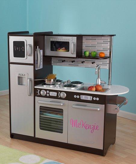 KidKraft Espresso Uptown Personalized Play Kitchen | Zulily