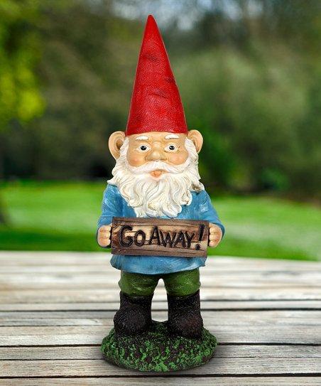 Exhart Red Blue Go Away Garden Gnome