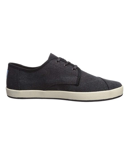 TOMS Black Twill Chambray Paseo Sneaker