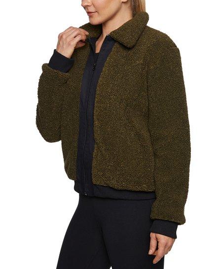 Betsey Johnson Womens Zip Front Sherpa Jacket