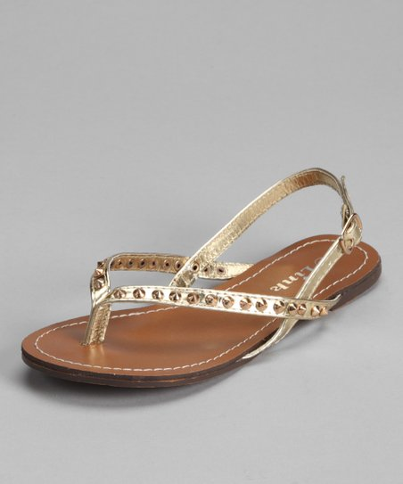 3796c1c6ee171 love this product Gold Spike Thong Sandal