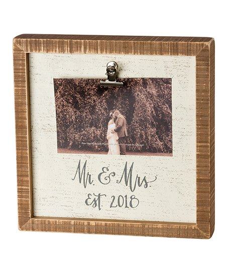 Primitives by Kathy Box Frame Mr and Mrs