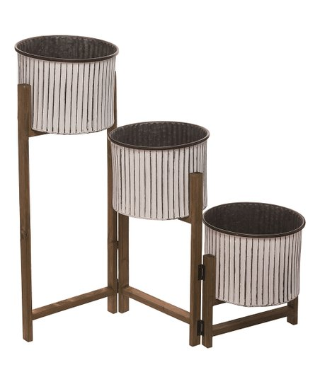 Metal Wood Three Tier Plant Stand Best Price And Reviews Zulily