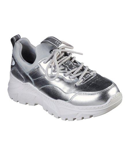 skechers silver sneakers off 54% - www