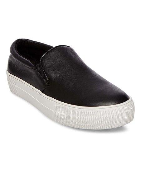 Steve Madden Black Gills Leather Slip
