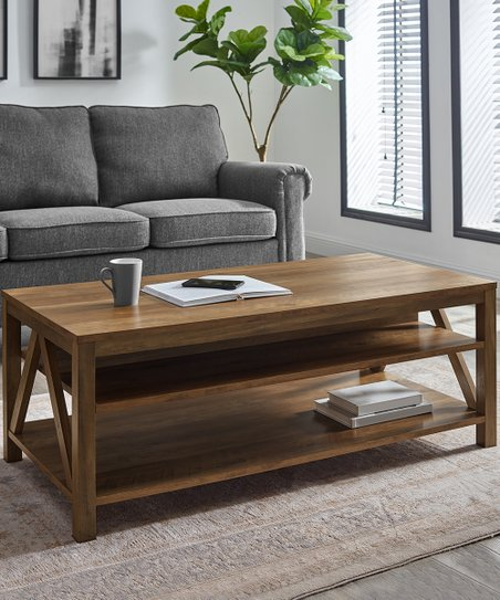 Walker Edison Reclaimed Barnwood Finish A Frame Farmhouse Coffee Table Best Price And Reviews Zulily