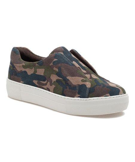 J/Slides Green Camo Alara Leather Slip