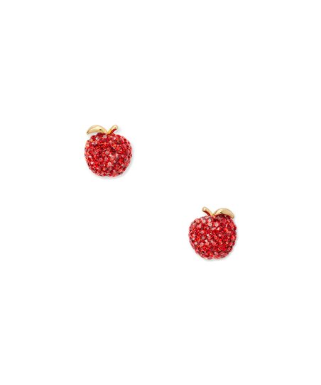 Goldtone Apple Stud Earrings