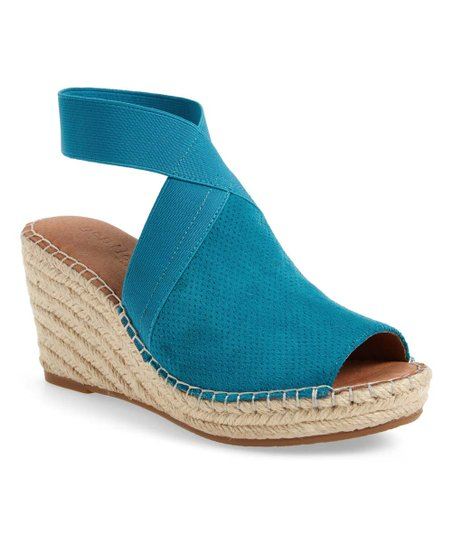 Gentle Souls by Kenneth Cole Colleen Wedge Sandals Turquoise