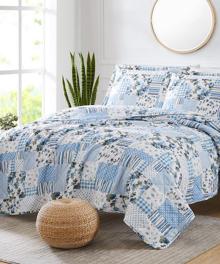 Rt Designers Collection Light Blue Patchwork St Croix Carolina Reversible Quilt Set Best Price And Reviews Zulily