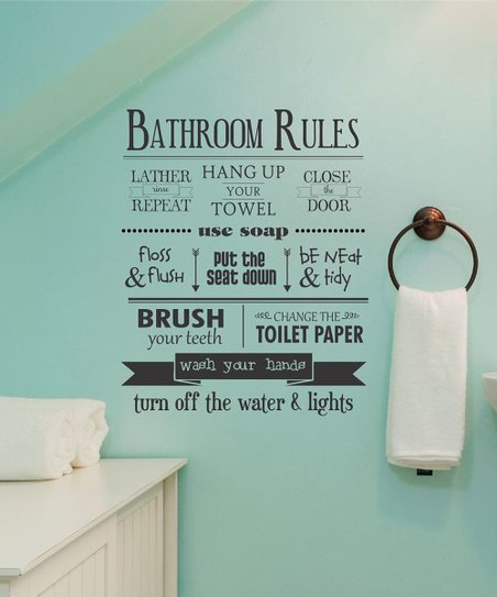 wall quotes™belvedere designs bathroom rules wall quotes™ decal