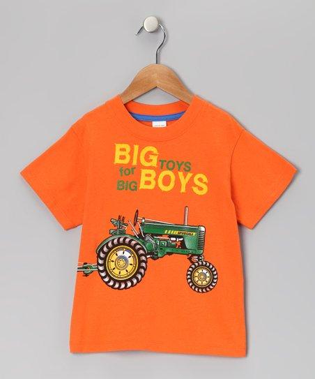 S P Udz Orange Big Boy Toys Tee Infant Zulily