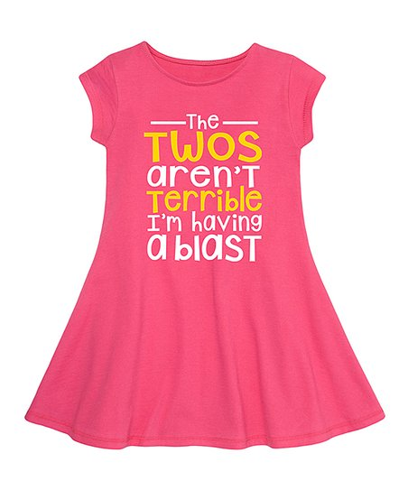 Instant Message Raspberry Im Having A Blast Fit Flare Dress Toddler Girls Best Price And Reviews Zulily