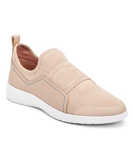 Taryn Rose Beige Tacey Slip-On Sneaker