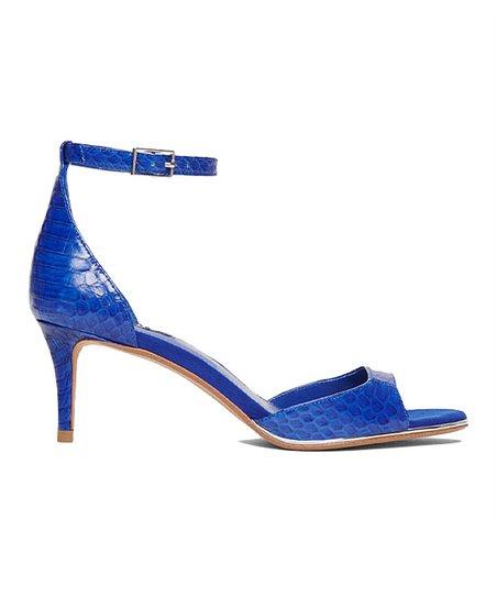 DKNY Royal Blue Snake-Embossed Giselle