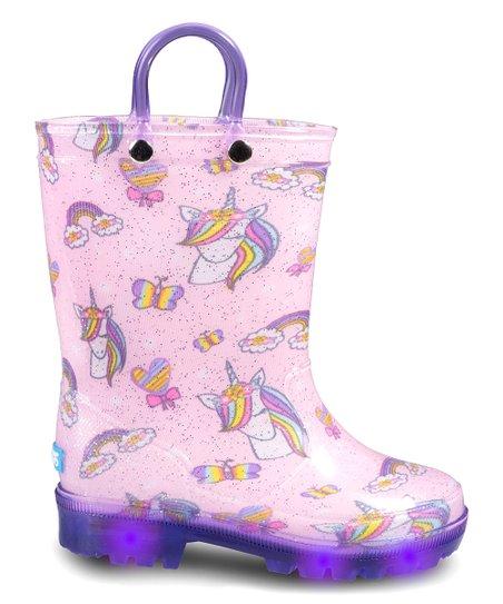 Butterflies Light-Up Rain Boot - Kids