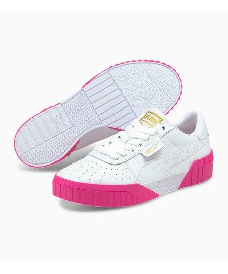 PUMA Puma White \u0026 Fluorescent Pink Cali