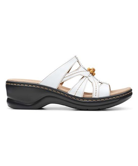 Clarks White Lexi Myrtle II Leather