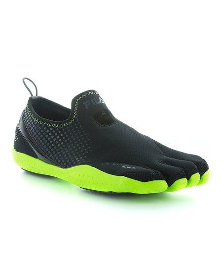 FILA Black \u0026 Neon Green Skele-Toes