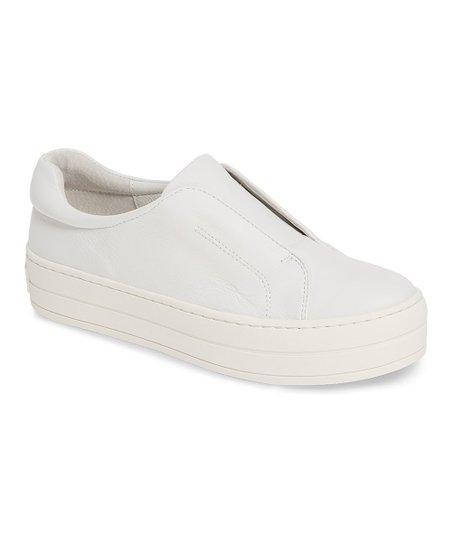 J/Slides White Heidi Leather Slip-On