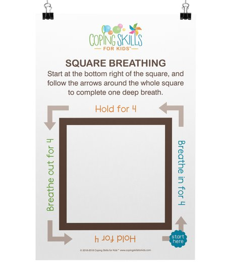 Coping Skills For Kids Square Deep Breathing Poster Best Price And Reviews Zulily