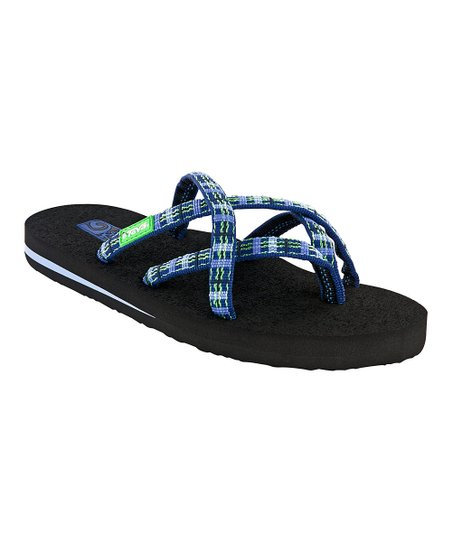 a892f4051 love this product Sorbet Plaid Blue Olowahu Flip-Flop - Women