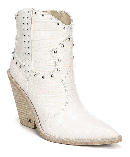 Sam Edelman White Stud-Accent Leather