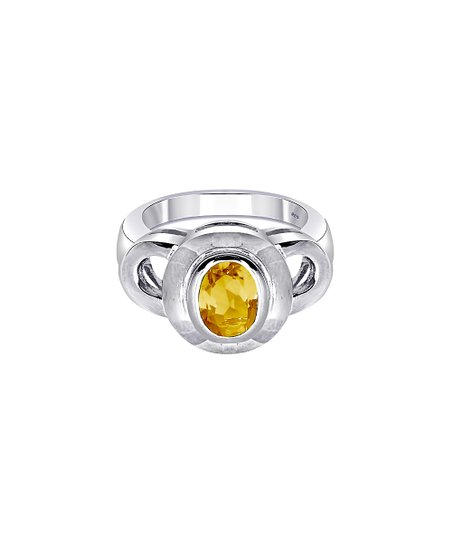 sterling silver ring flower ring hand fabricated ring citrine jewelry Citrine ring flower jewelry gift for her ooak handmade jewelry
