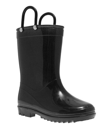 LILLY of NEW YORK Black Rain Boot