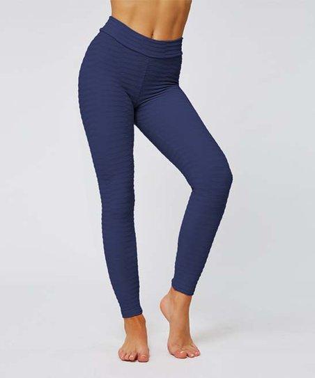 Pantalon Navy Stripe Texture Leggings Women Best Price And Reviews Zulily