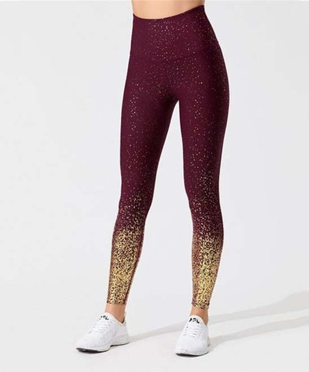 Pantalon Wine Ombre Glitter High Waist Leggings Women Best Price And Reviews Zulily