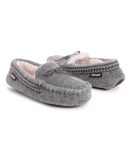 Medium Gray Luliana Moccasin Slipper - Women