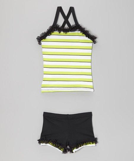a08881723 Lexi-Luu Designs Black   Neon Green Ruffle Tank   Shorts - Toddler ...