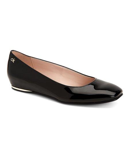 Black Patent Leather Heidy Flat - Women