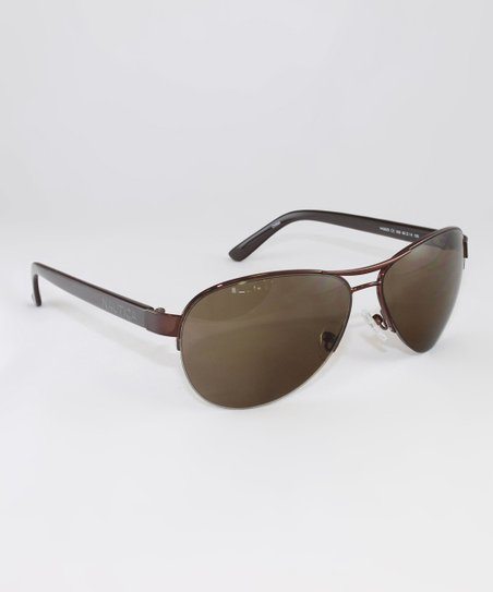 da3ba0203d Nautica Brown Aviator Polarized Sunglasses - Unisex