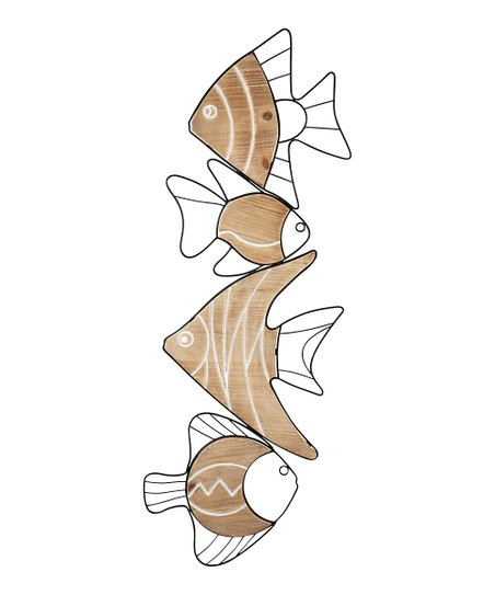 Metal Wood Swimming Fish Wall Art Best Price And Reviews Zulily