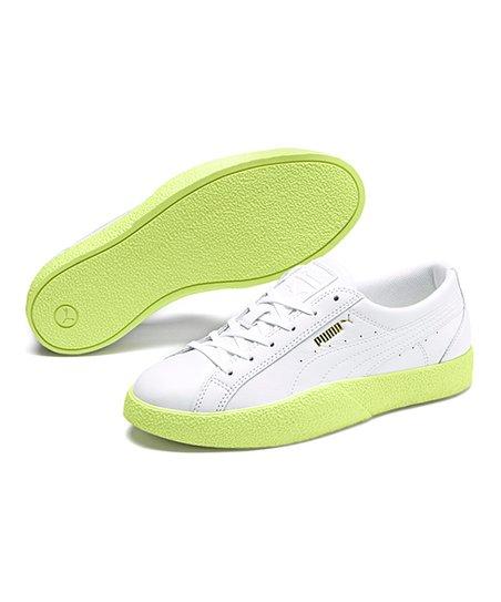PUMA Lime Green \u0026 White Love Leather