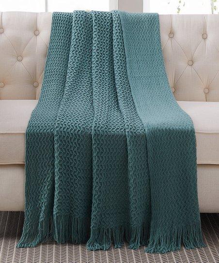Harper Lane Green Montesori Sweater Throw   Best Price and