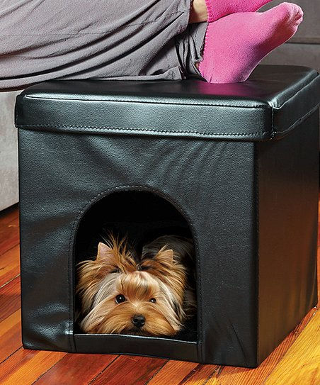 Peachy Etna Products Black Collapsible Pet Ottoman Inzonedesignstudio Interior Chair Design Inzonedesignstudiocom