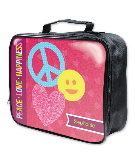 Spark Spark Peace Sign Heart Soft Personalized Lunch Box