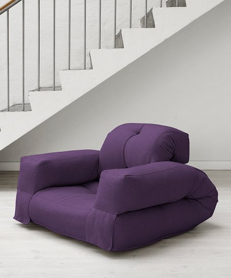 Purple Hippo Convertible Futon Chair
