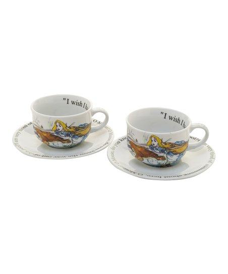 Cardew Design Alice In Wonderland 8 Oz Cup Saucer Set Of Two