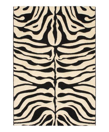 Black Cream Zebra Trek Rug