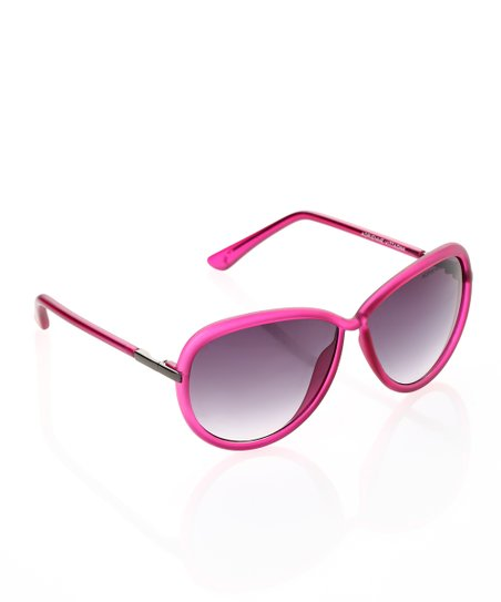 913c8b6fd8c Adrienne Vittadini® Pink Frosted Frame Sunglasses