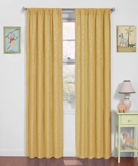 Pale Yellow Nursery Eclipse Blackout Curtain Panel
