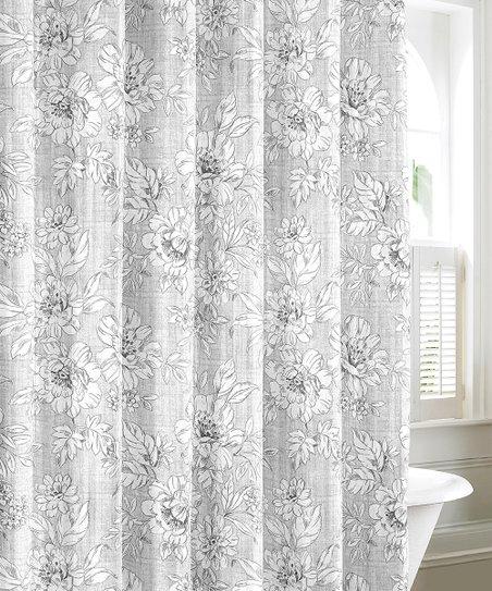 Gray Iris Shower Curtain